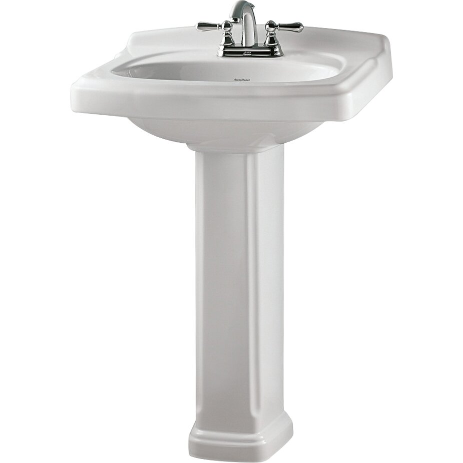 American Standard Portsmouth Pedestal Bathroom Sink Set