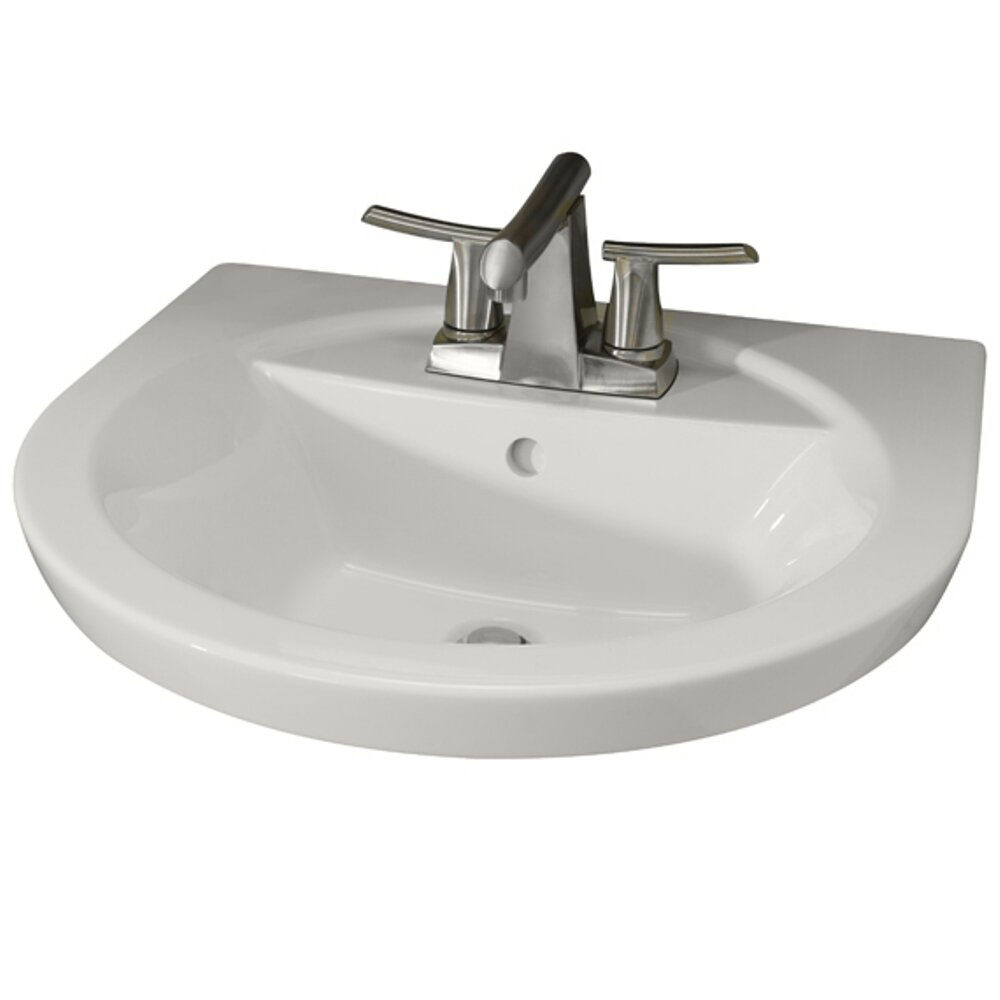American standard tropic petite pedestal bathroom sink set for Bath toilet and sink sets