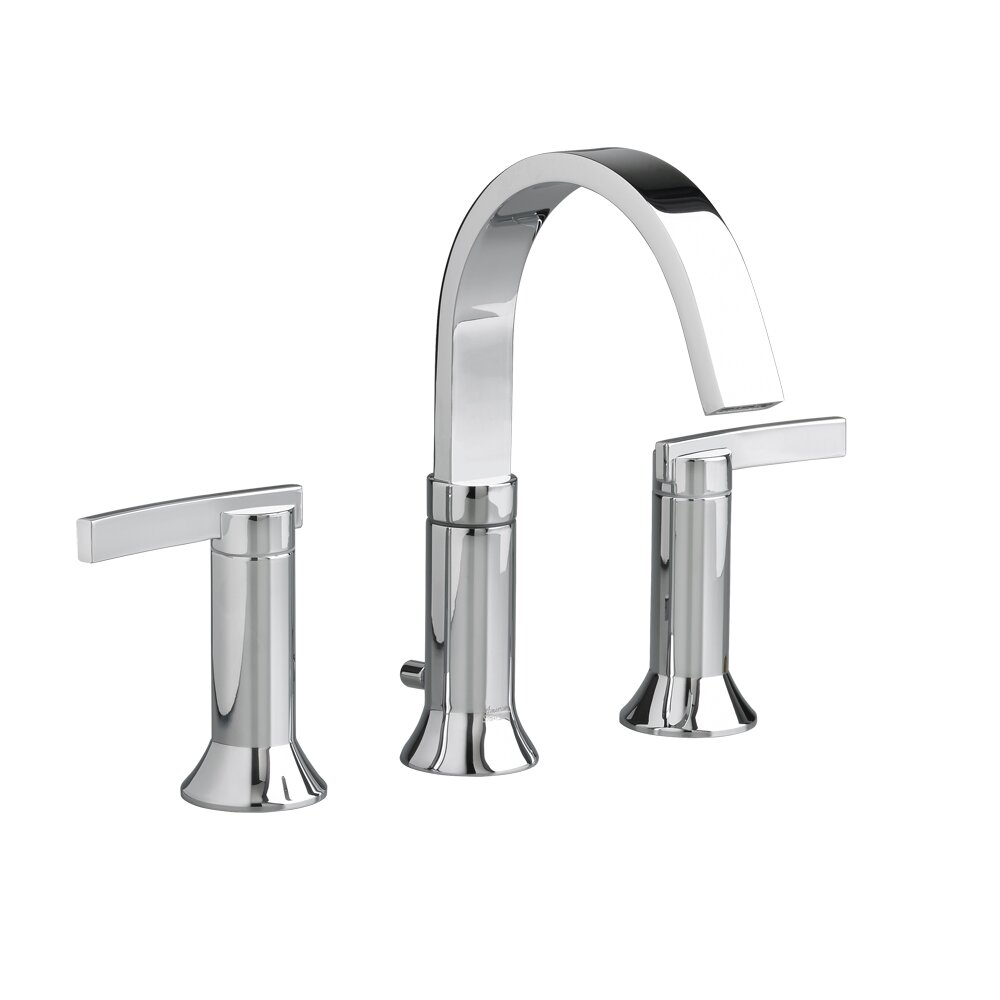 American Standard 2 Handle High Arc Widespread Bathroom Faucet With Speed Connect Drain