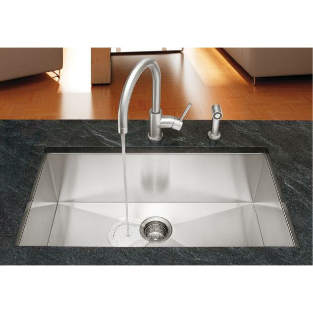 blanco quatrus 32 quot x 18 quot single bowl kitchen sink wayfair