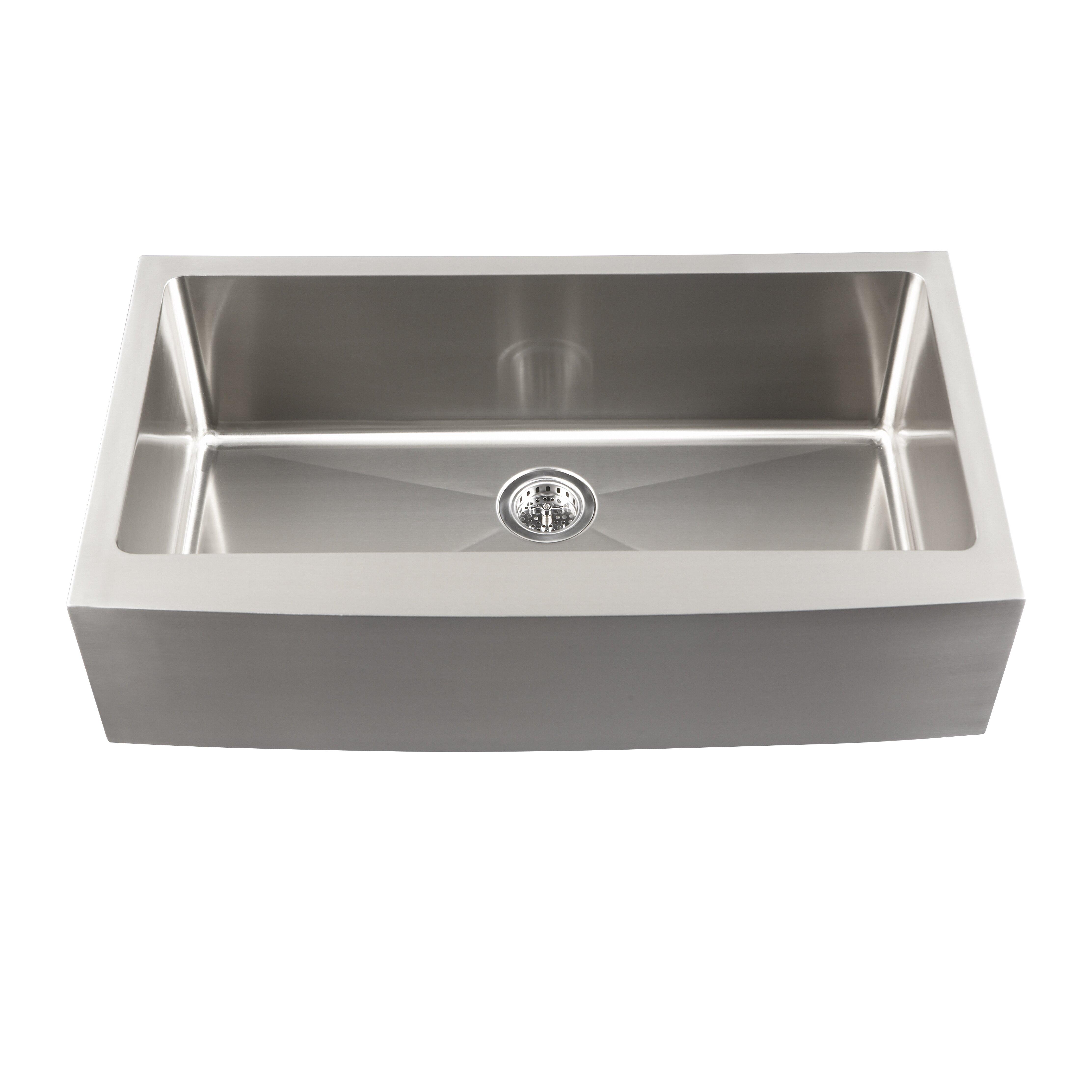 """Kitchen Sink Bowl: Schon 22"""" Single Bowl Farmhouse Kitchen Sink & Reviews"""