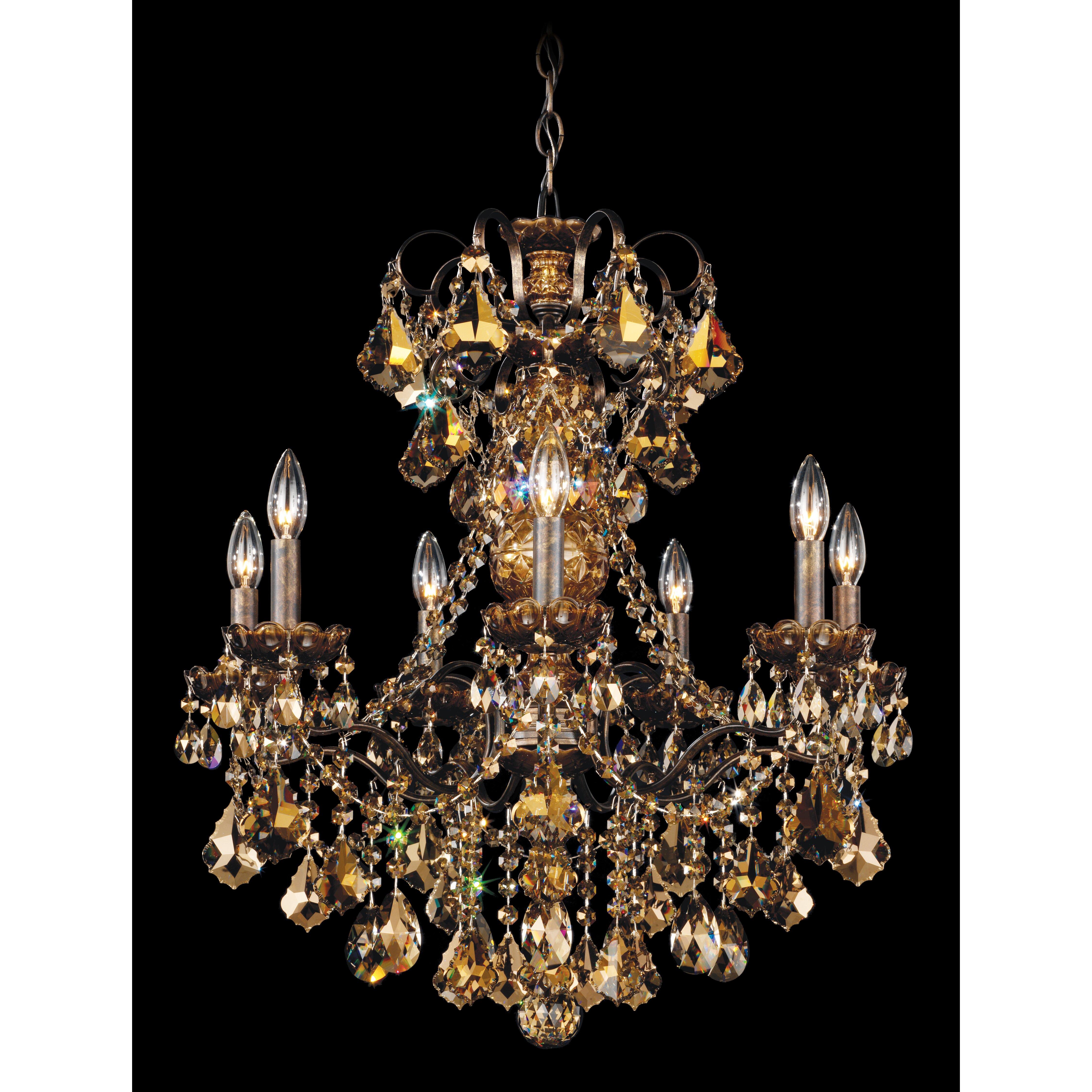 Schonbek Chandelier Wayfair: Schonbek New Orleans 7 Light Crystal Chandelier & Reviews