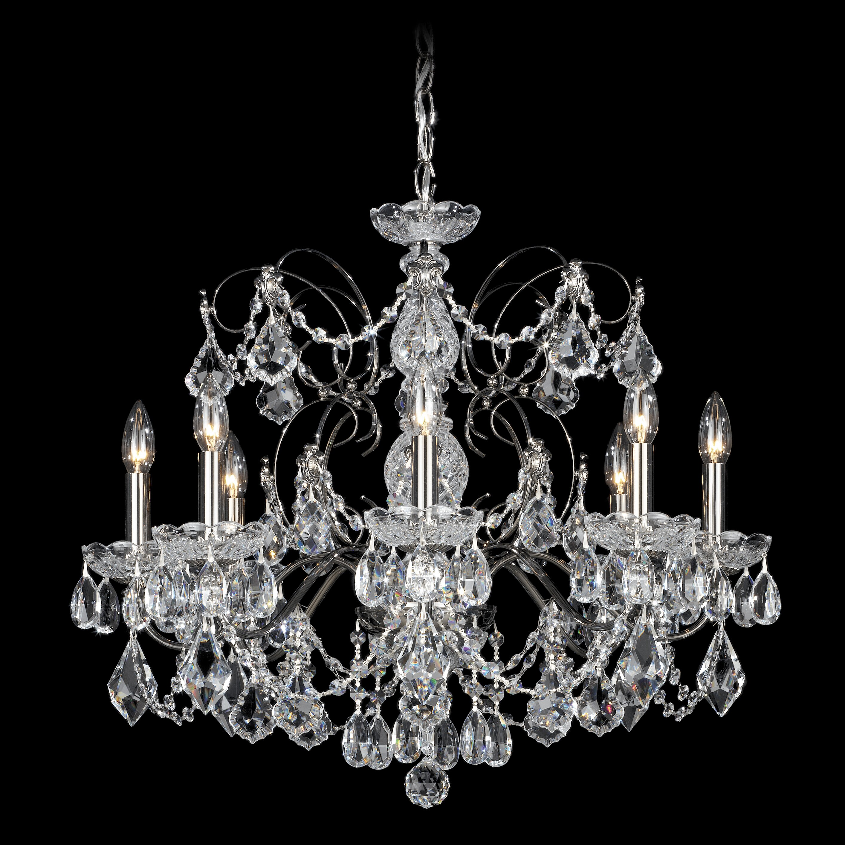 Schonbek century 8 light chandelier reviews wayfair - Lighting and chandeliers ...