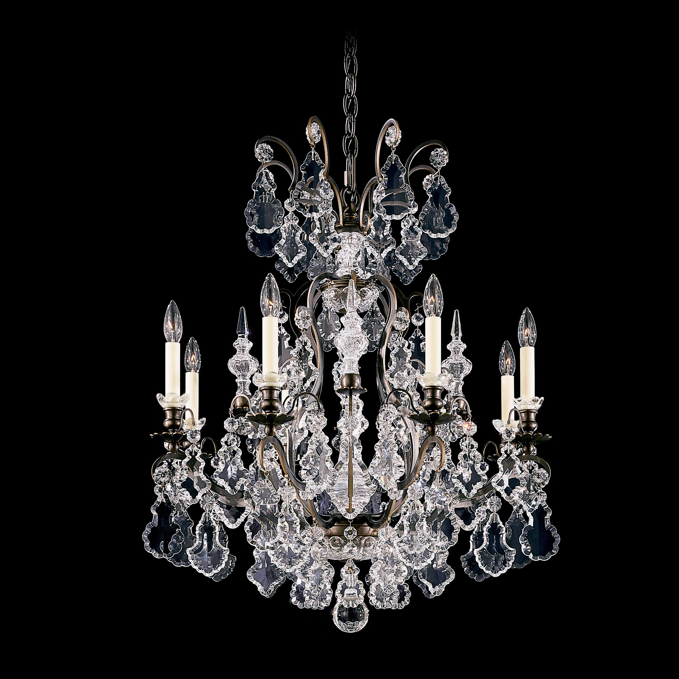 Chandelier Schonbek Schonbek 2996 Sterling 9 Light Up