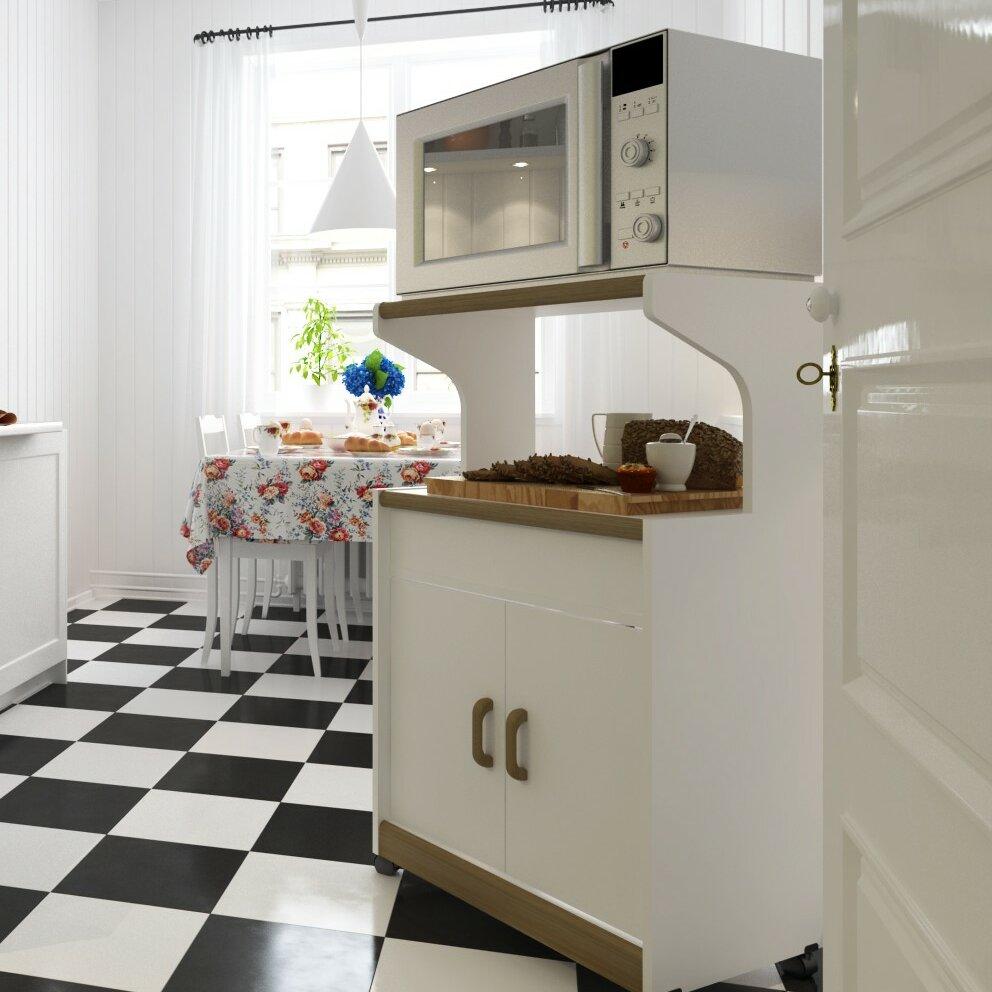 Shop Simple Living Rolling Galvin Microwave Cart: Ameriwood Microwave Cart & Reviews