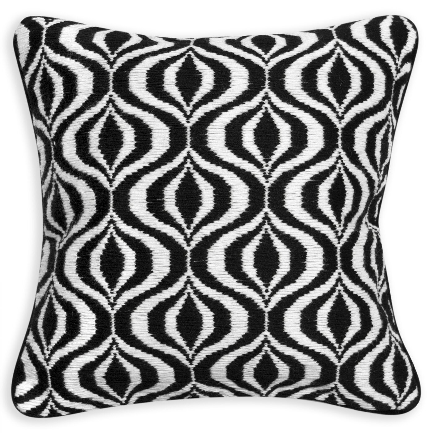 Jonathan Adler Bargello Waves Wool Throw Pillow & Reviews Wayfair