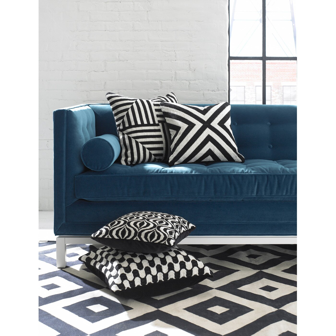 Throw Pillows Justice : Jonathan Adler Bargello Waves Wool Throw Pillow & Reviews Wayfair