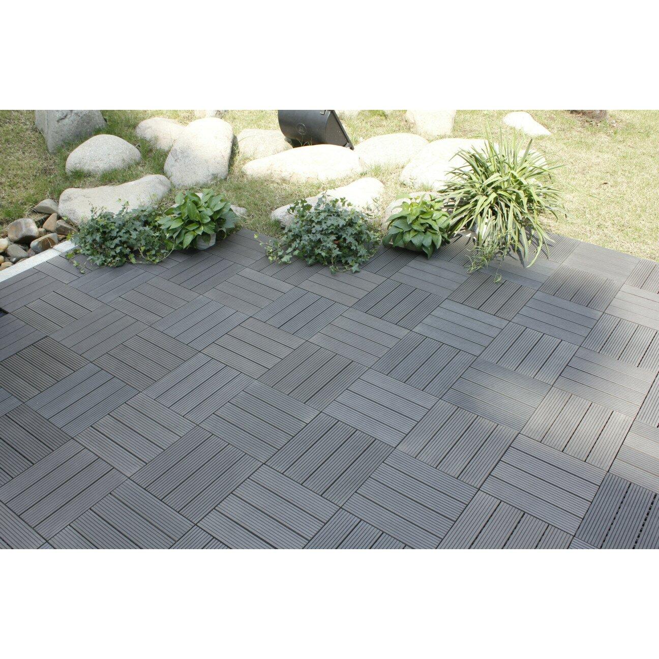 naturesort bamboo composite 12 x 12 deck tiles in grey. Black Bedroom Furniture Sets. Home Design Ideas