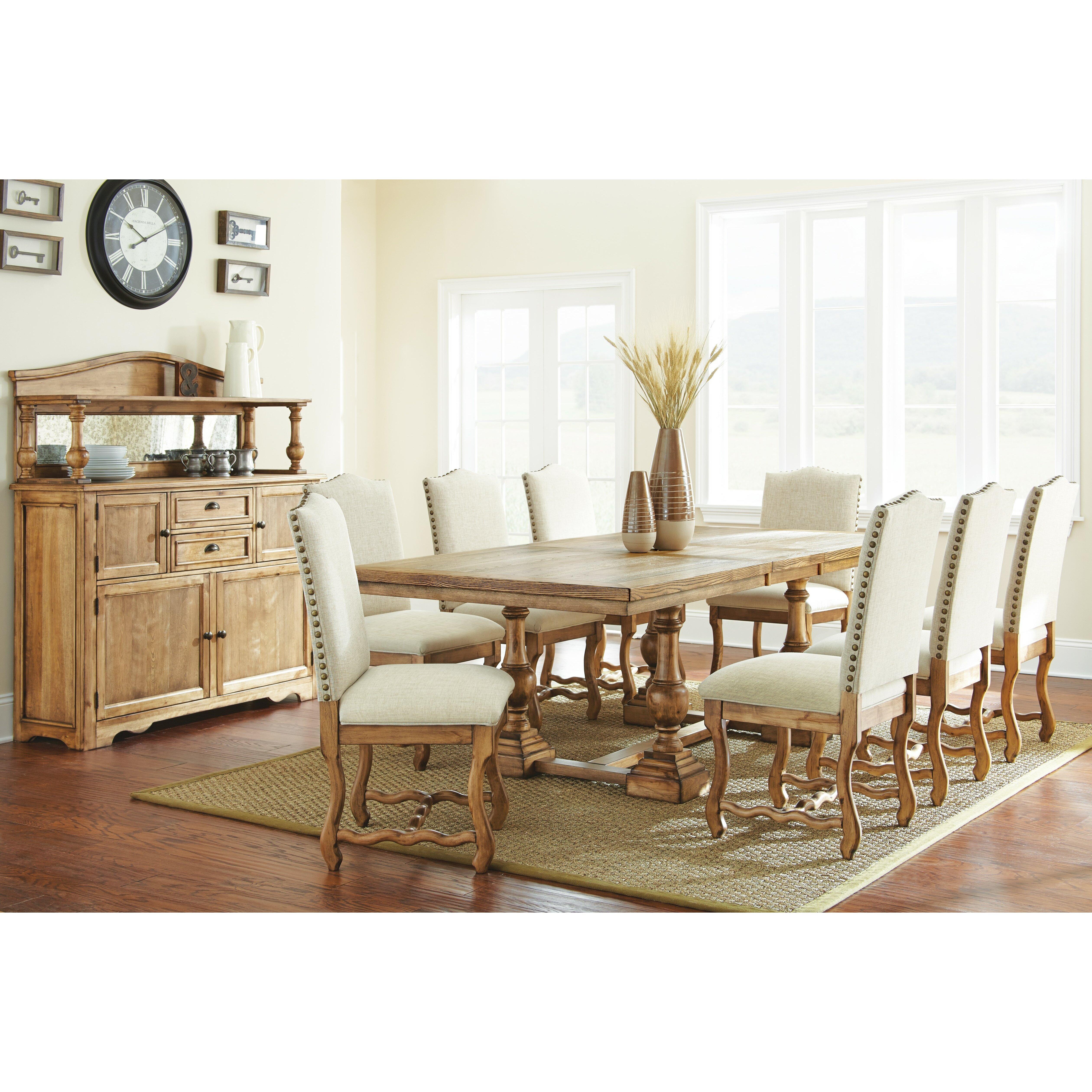 Steve Silver Furniture Plymouth 9 Piece Dining Set Reviews Wayfair
