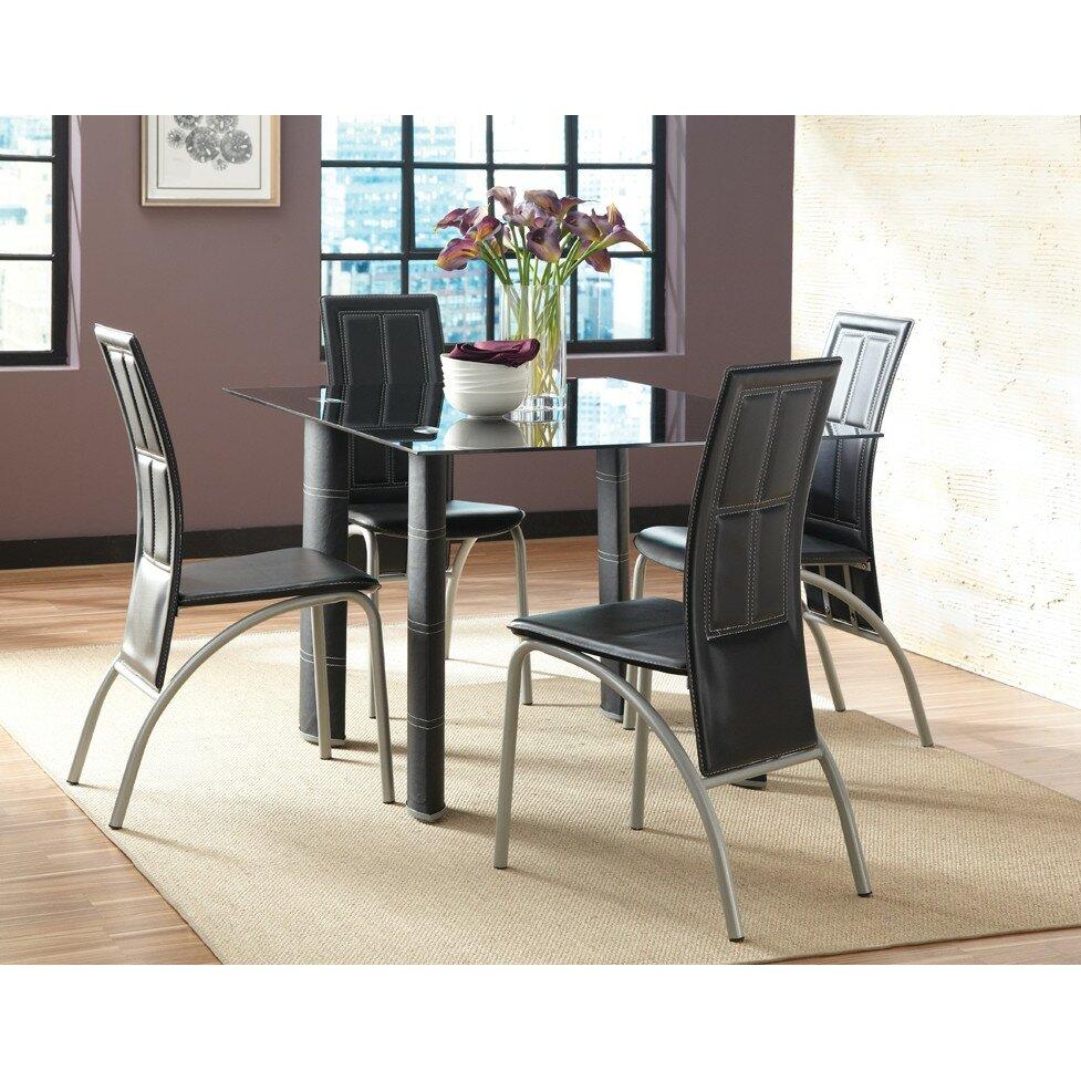 Steve Silver Furniture Calvin 5 Piece Dining Set Reviews Wayfair