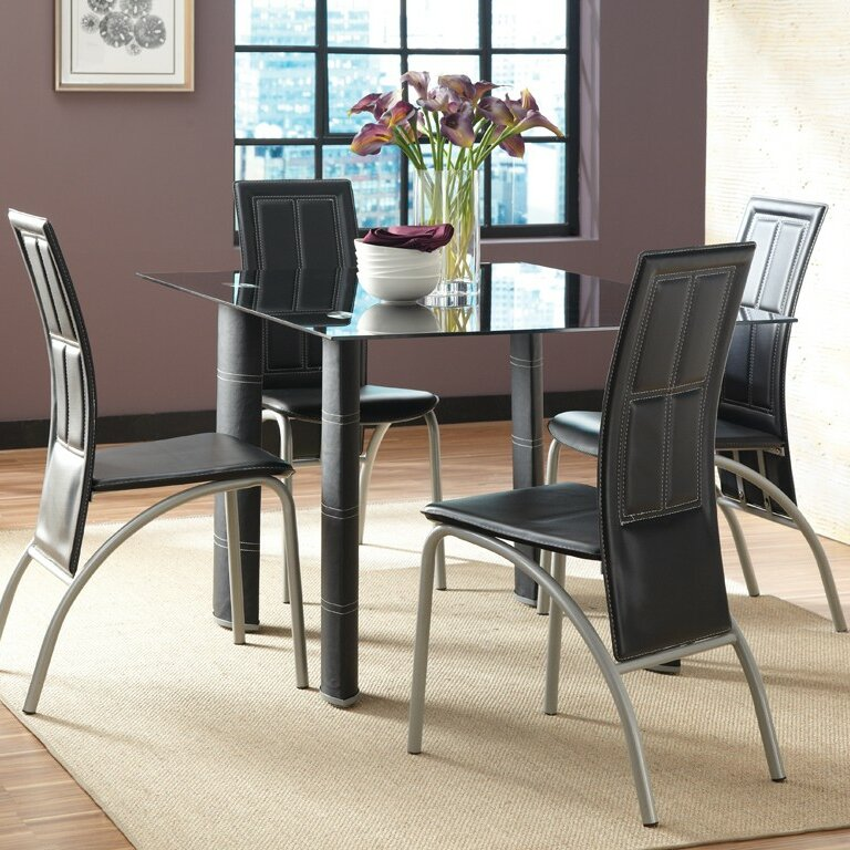 Steve Silver Furniture Calvin 5 Piece Dining Set & Reviews