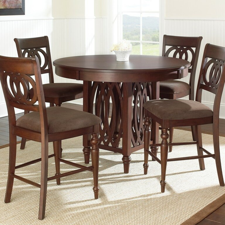 Steve Silver Furniture Dolly Counter Height Dining Table & Reviews ...