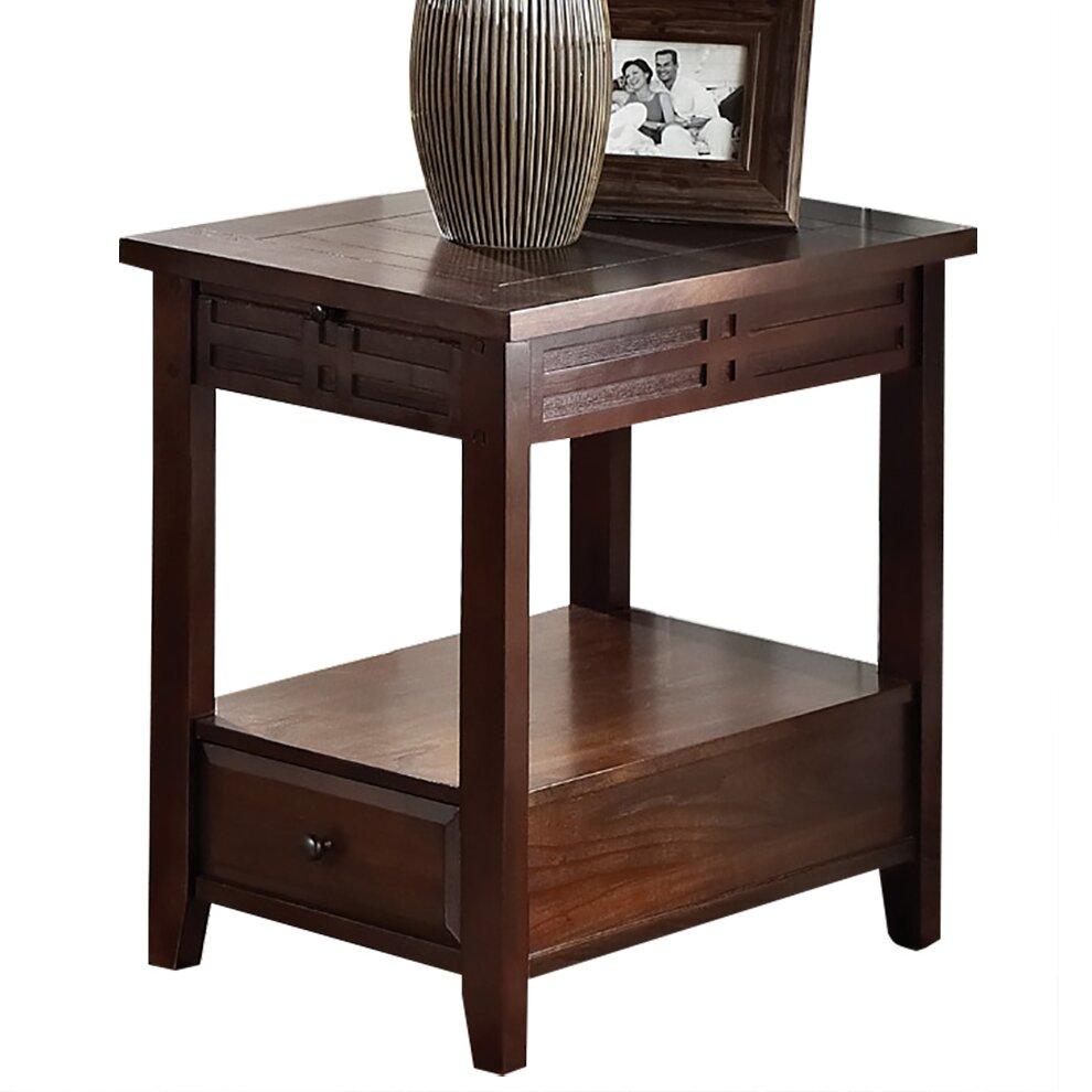 Steve Silver Furniture Crestline Chairside Table  Wayfair