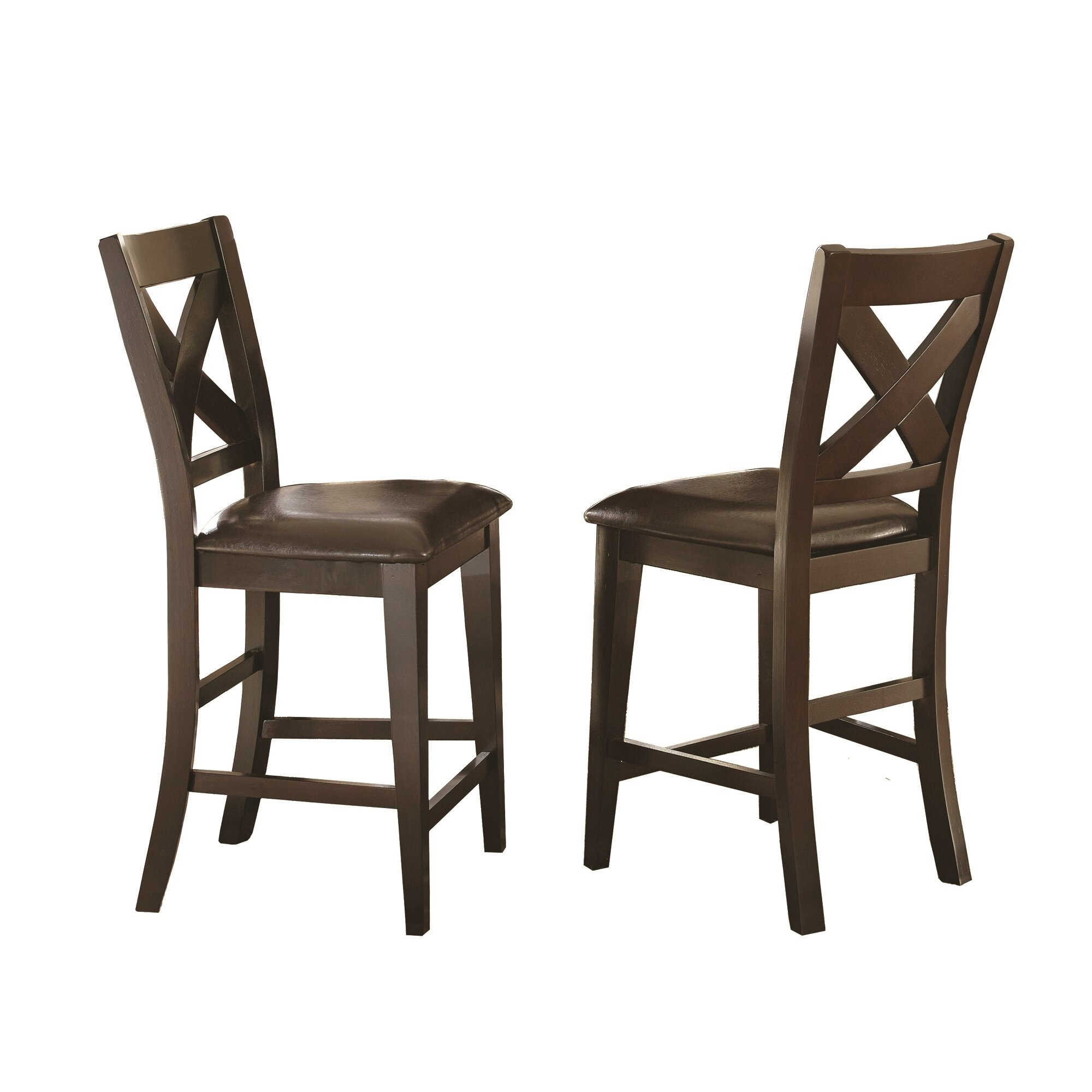 Steve silver furniture crosspointe 9 piece dining set for Dining room tables 9 piece