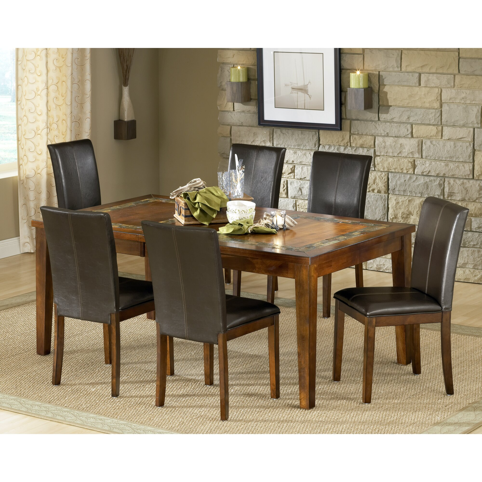 Steve silver furniture davenport dining table wayfair for Wayfair furniture dining tables