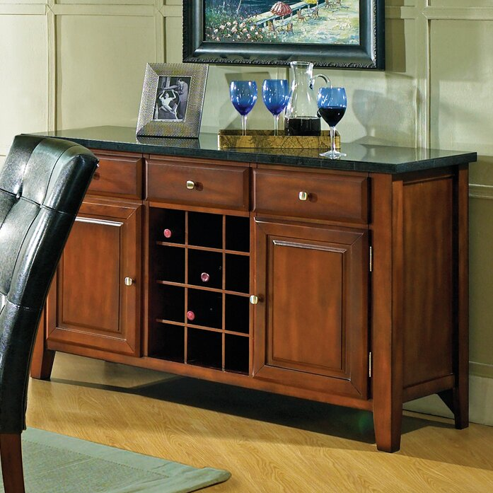Darby Home Co Matheson Buffet With Wine Rack Amp Reviews