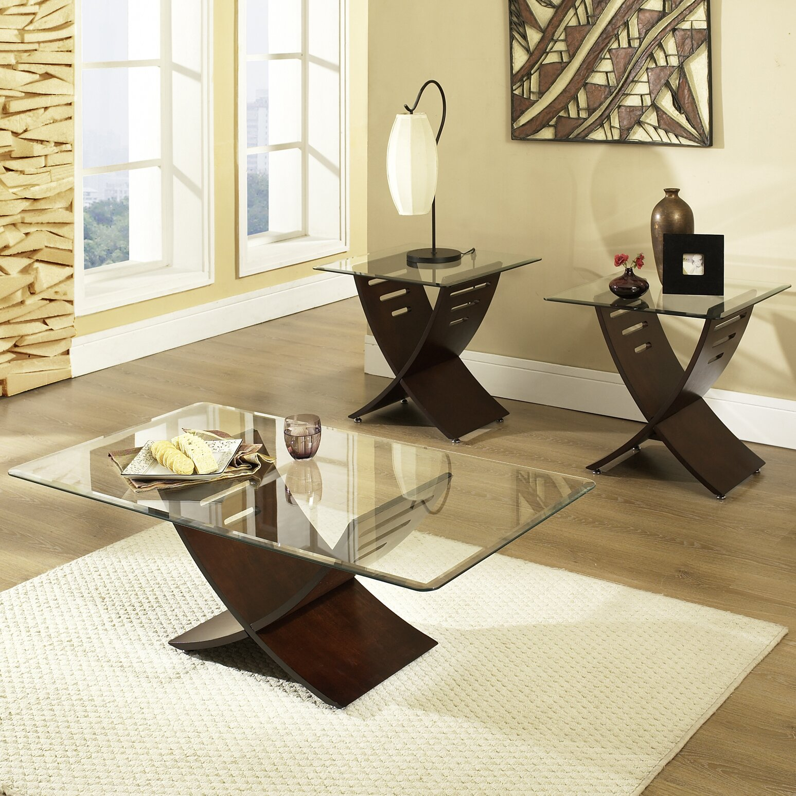 Steve Silver Furniture Cafe 3 Piece Coffee Table Set