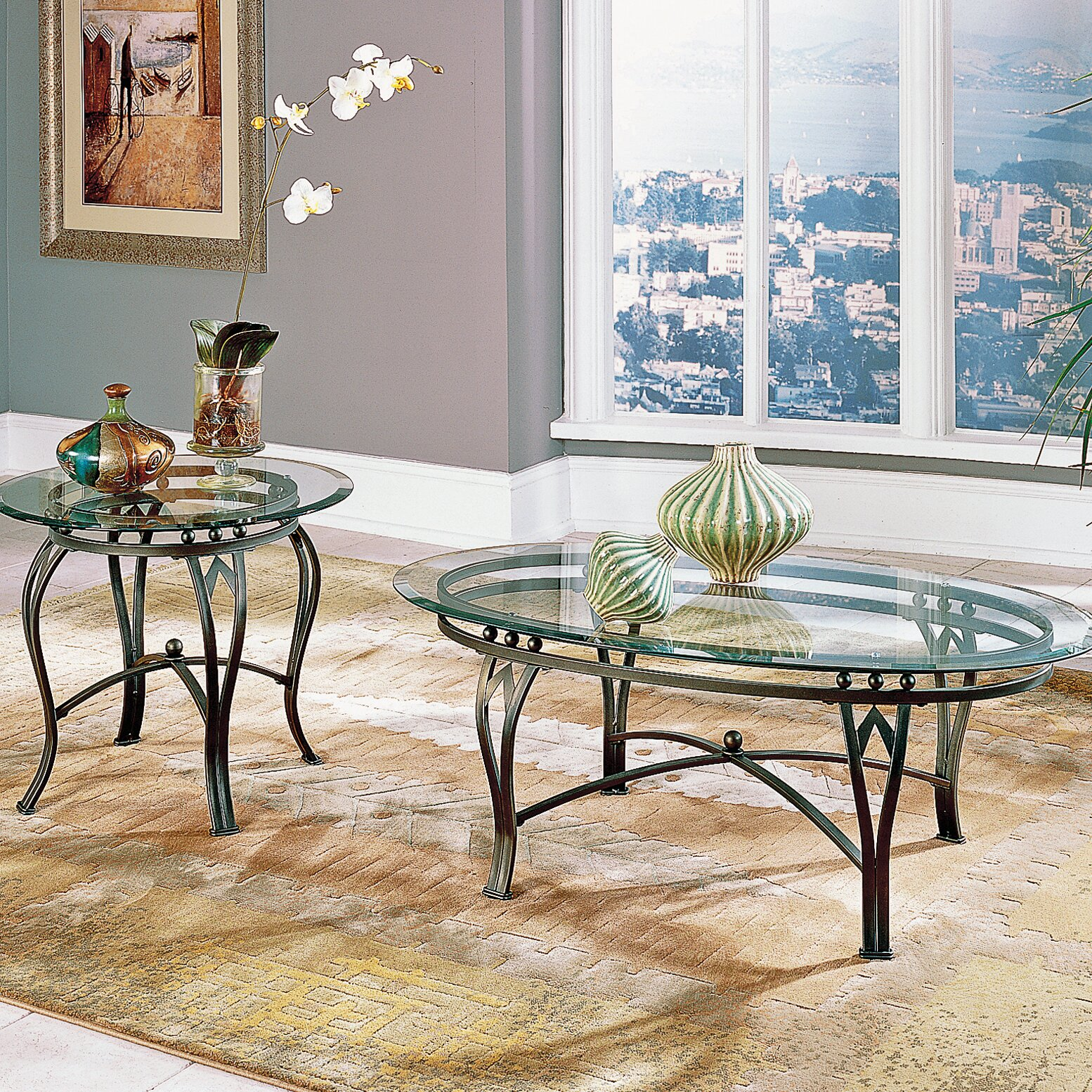 Steve silver furniture madrid coffee table set reviews for Furniture madrid