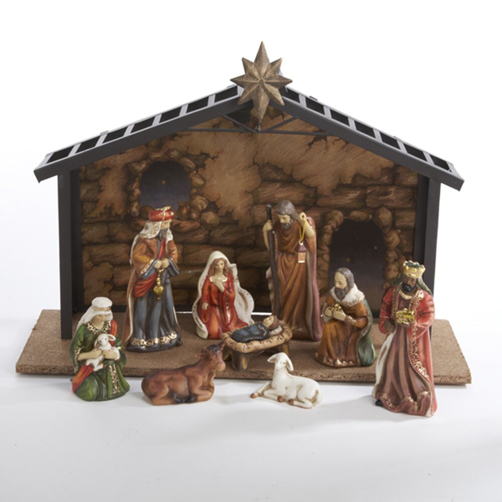 Kurt Adler 10 Piece Nativity Set Amp Reviews Wayfair