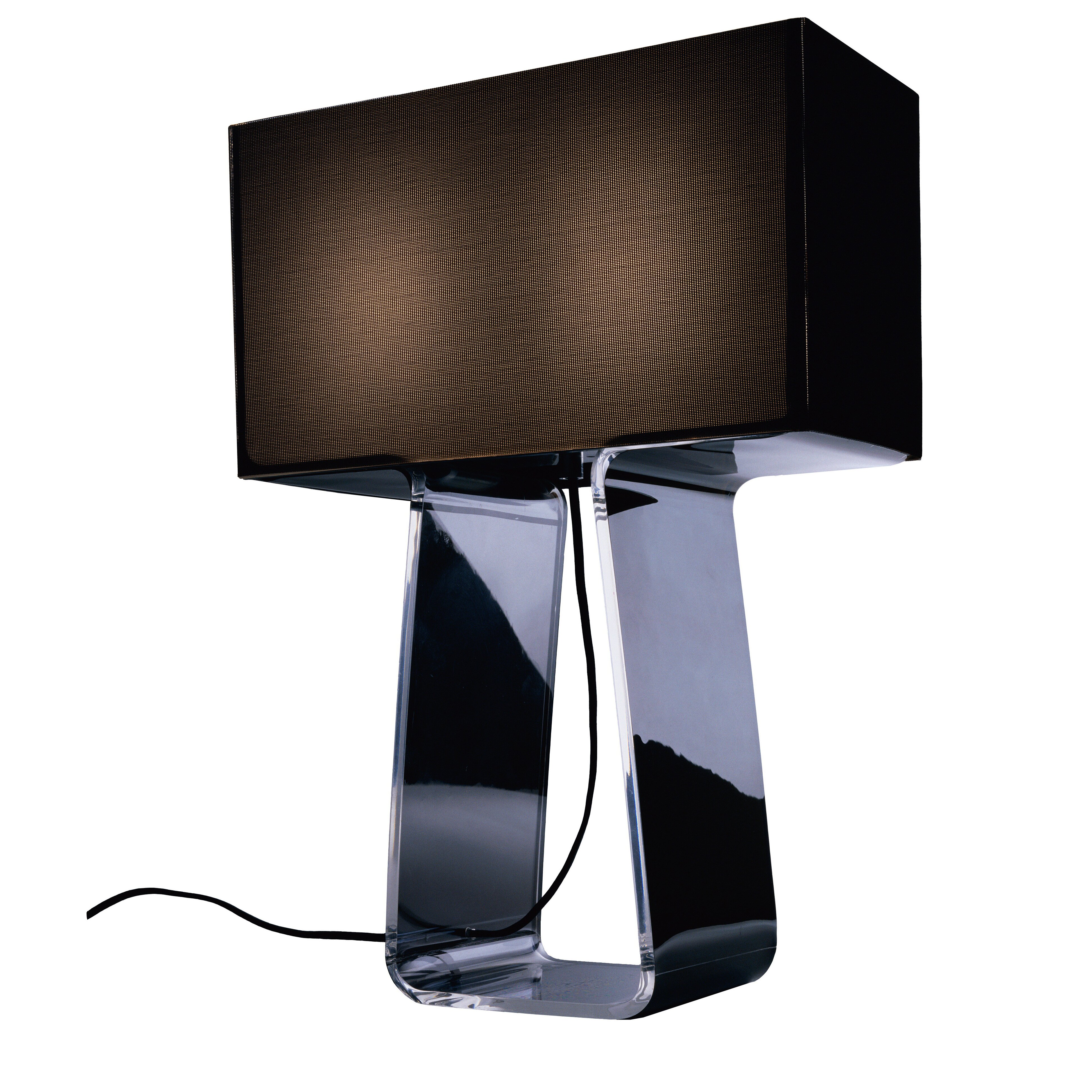 Pablo Designs Tube Top Table Lamp With Rectangular Shade