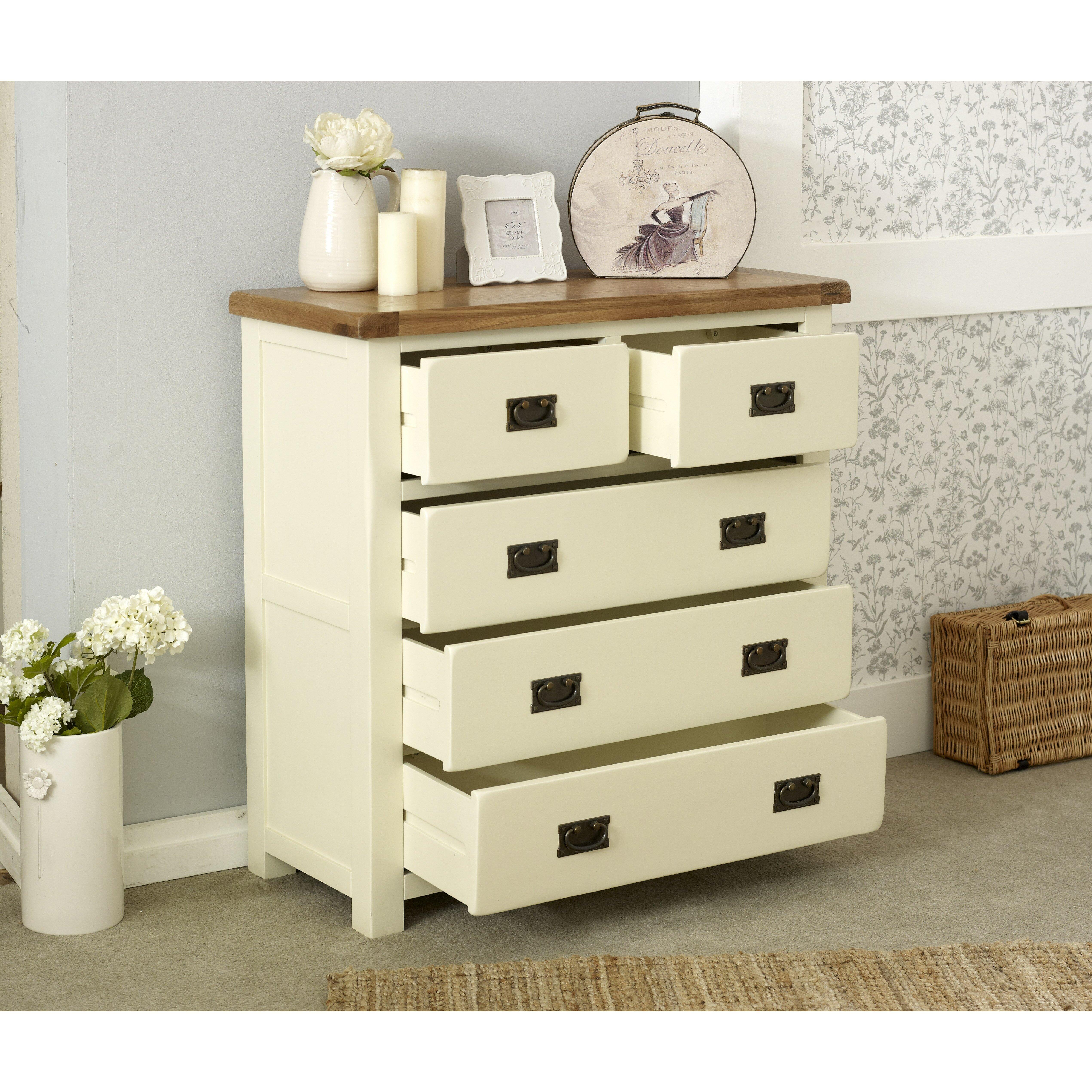 birlea new hampshire 5 drawer chest of drawers wayfair uk. Black Bedroom Furniture Sets. Home Design Ideas