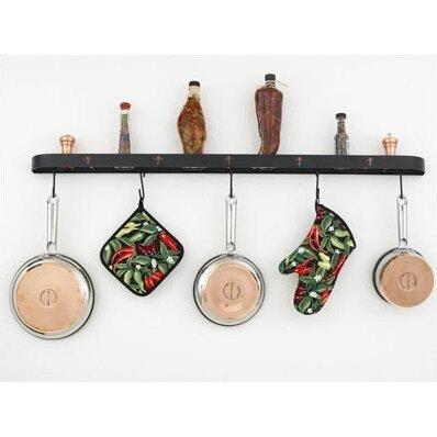 hi lite fleur de lis wall mounted pot rack reviews wayfair. Black Bedroom Furniture Sets. Home Design Ideas