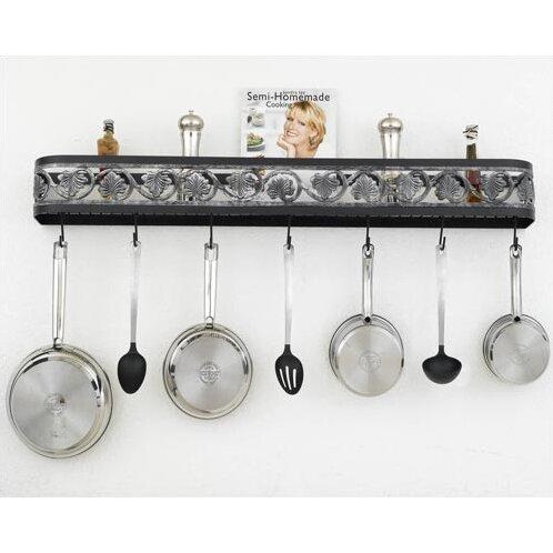 hi lite leaf wall mounted pot rack wayfair. Black Bedroom Furniture Sets. Home Design Ideas