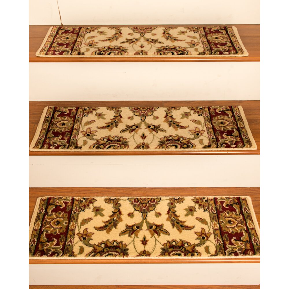 Natural Area Rugs Sydney Cream Classic Persian Stair Tread