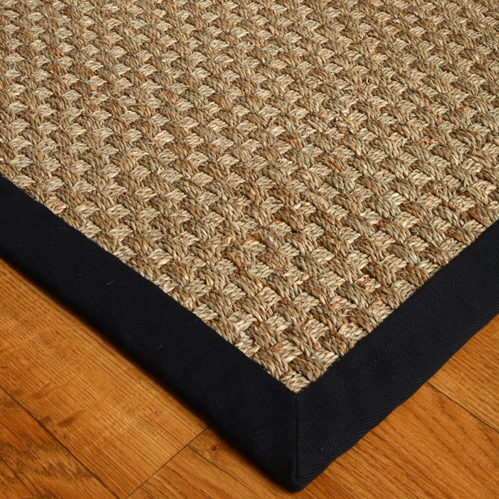 Natural Area Rugs Seagrass Lancaster Black Area Rug