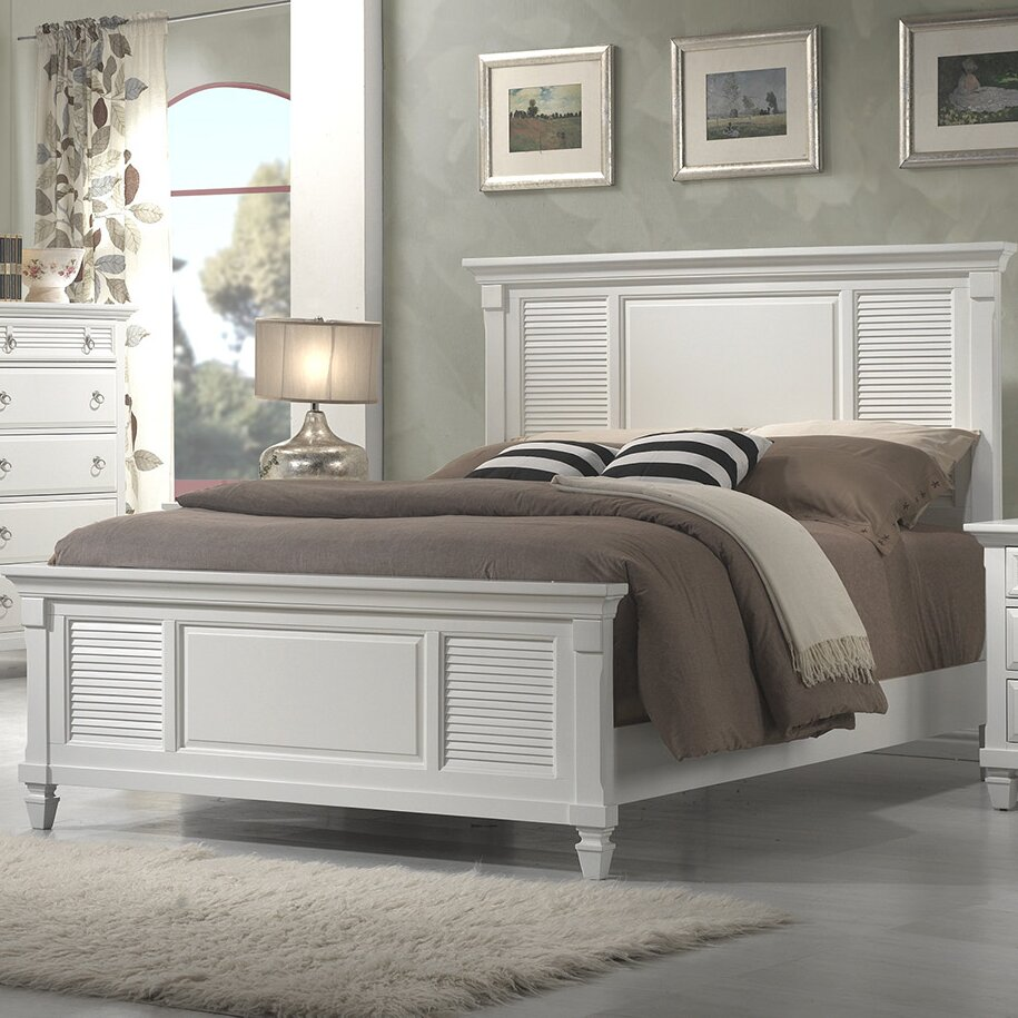 Beachcrest home norfolk panel bed reviews wayfair for Crest home designs bedding