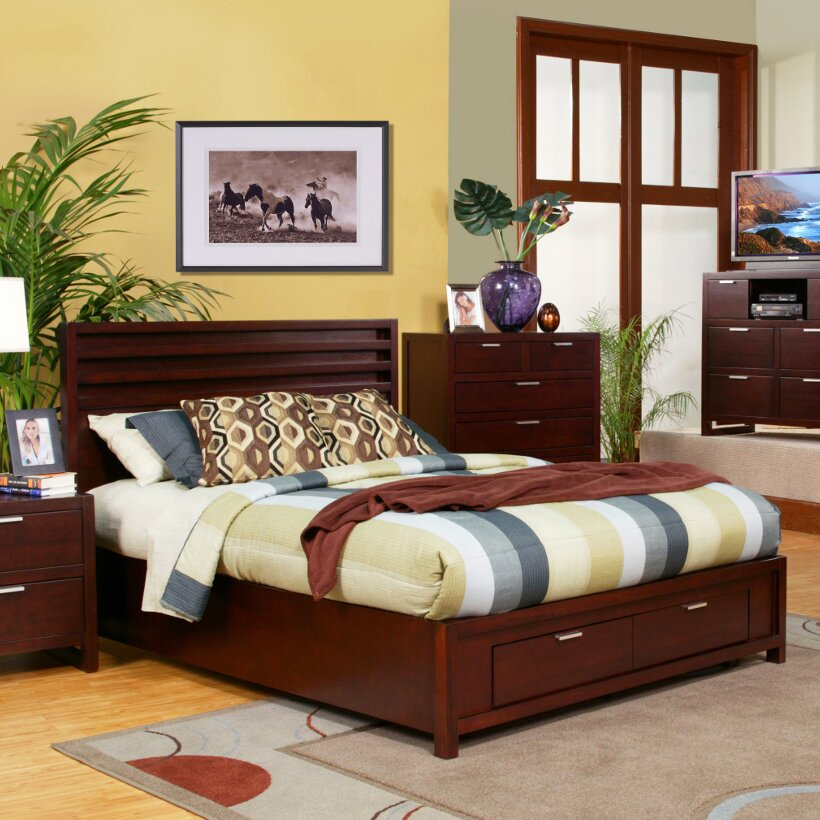 Alpine Furniture Camarillo Platform Customizable Bedroom