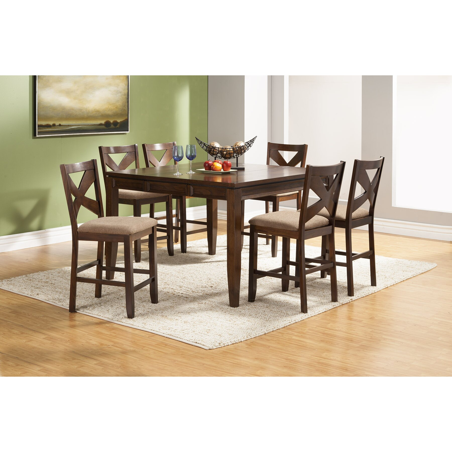 Kitchen Counters Albany Ny: Alpine Furniture Albany 7 Piece Counter Height Dining Set