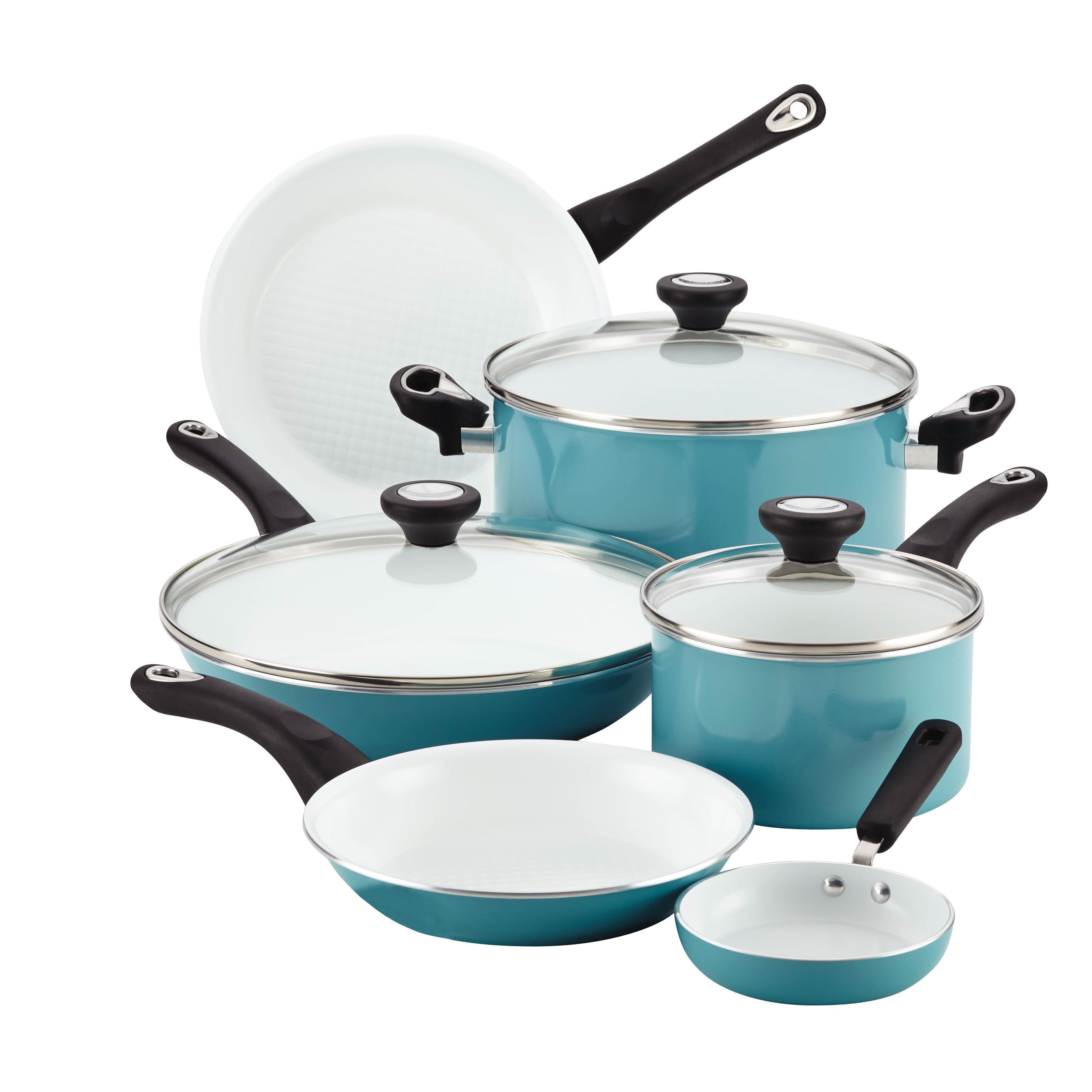 Farberware Purecook Ceramic Nonstick Cookware 12 Piece Cookware Set ...