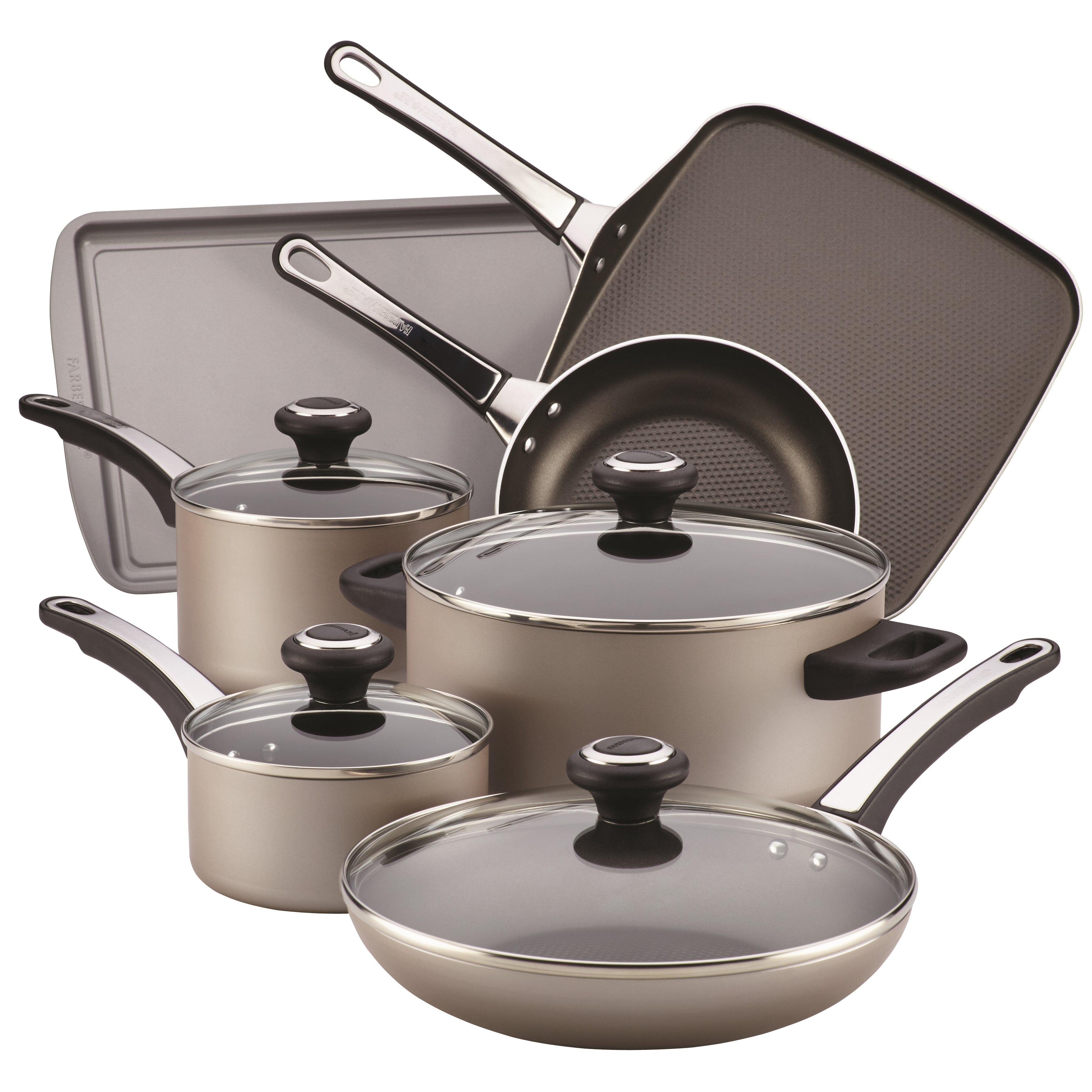Farberware 17 Piece Nonstick Cookware Set & Reviews | Wayfair