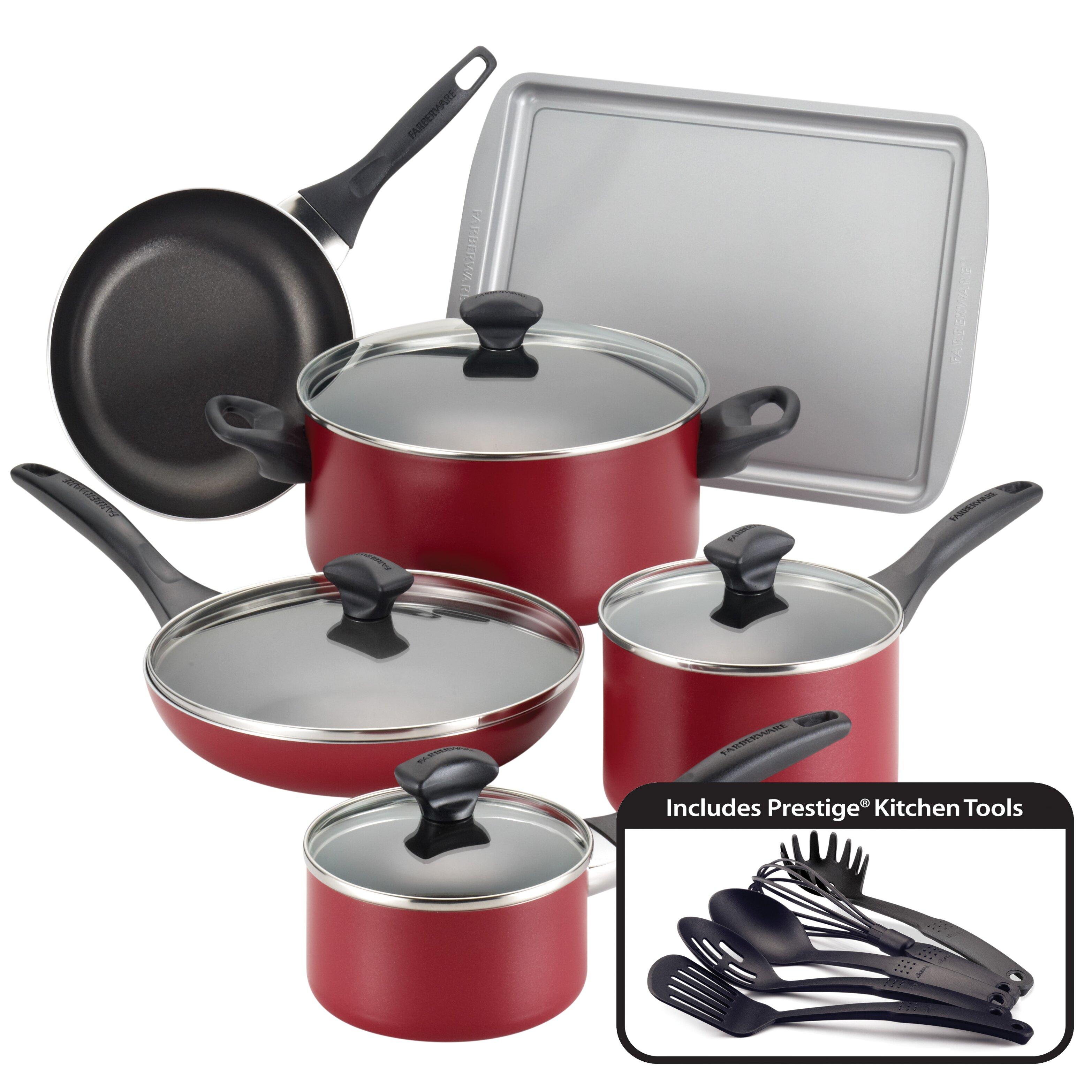 Farberware Non Stick 15 Piece Cookware Set Reviews Wayfair