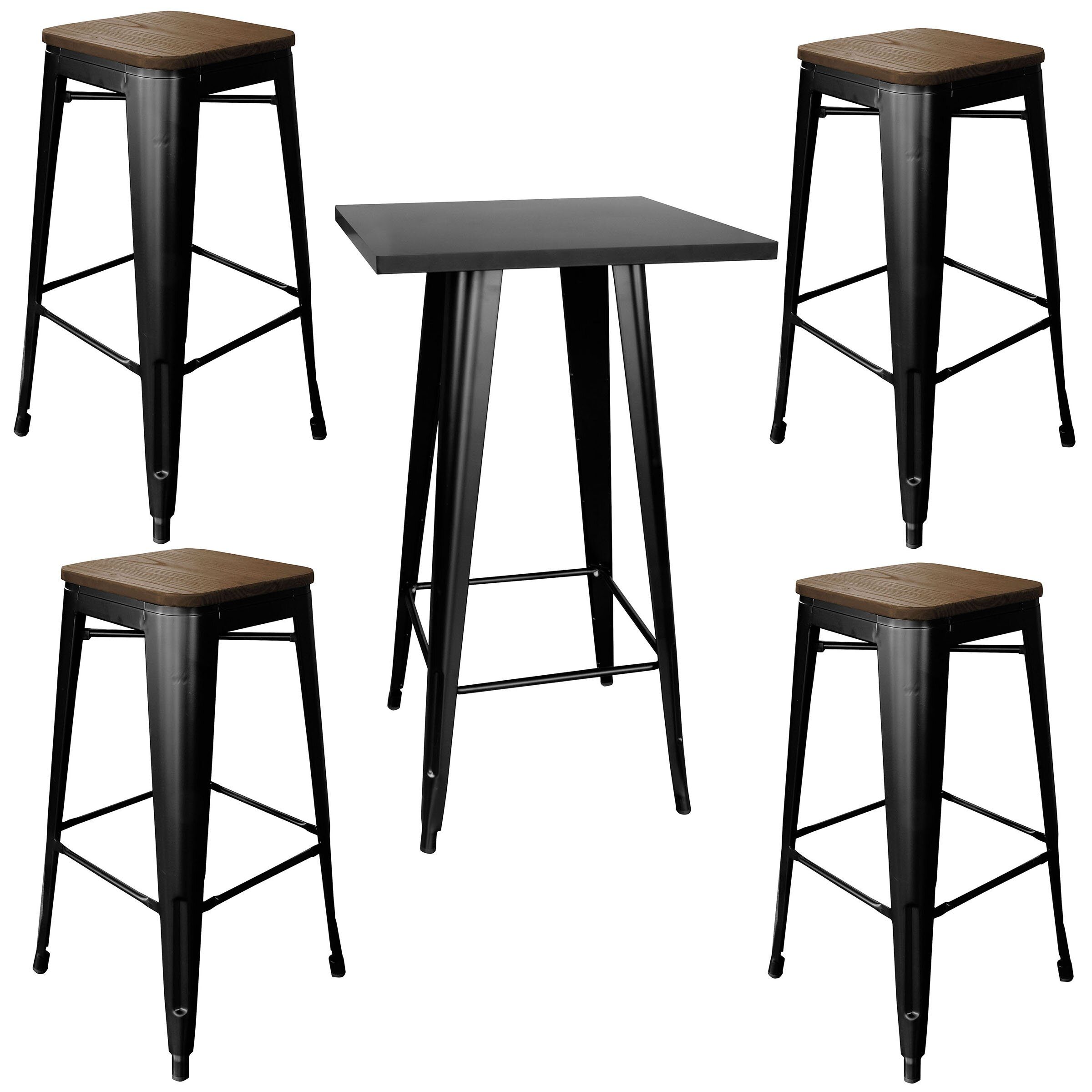 best 5 piece bistro table set with image