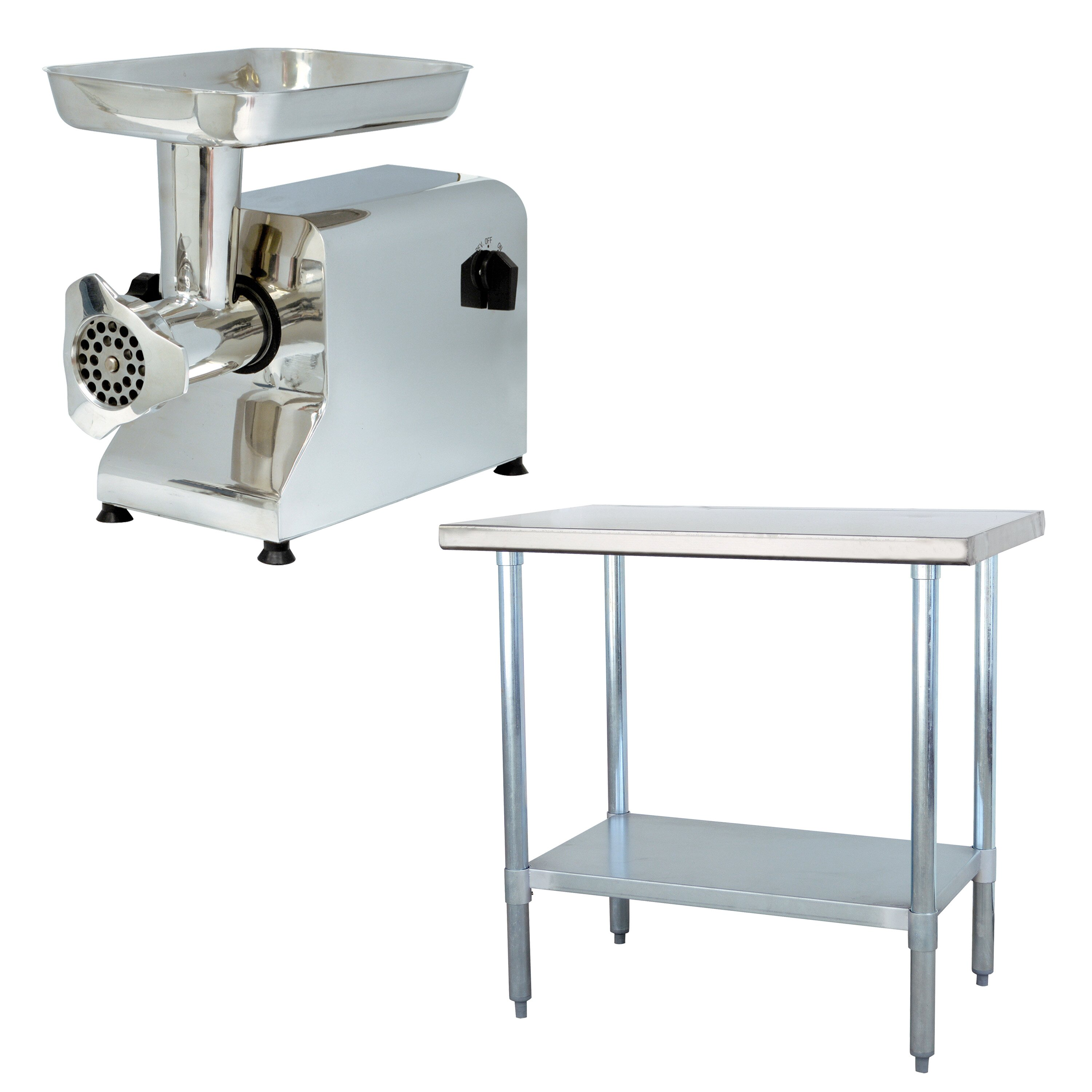 Buffalo tools sportsman series meat grinder and work table for Table grinder