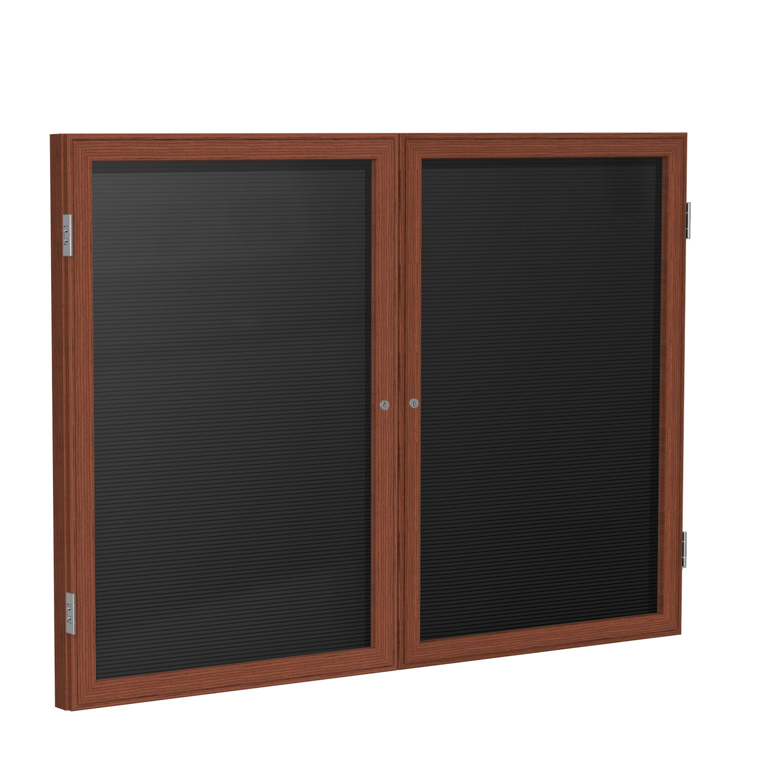 Ghent 2 door wood frame enclosed letter board wayfair supply for Enclosed bed frame