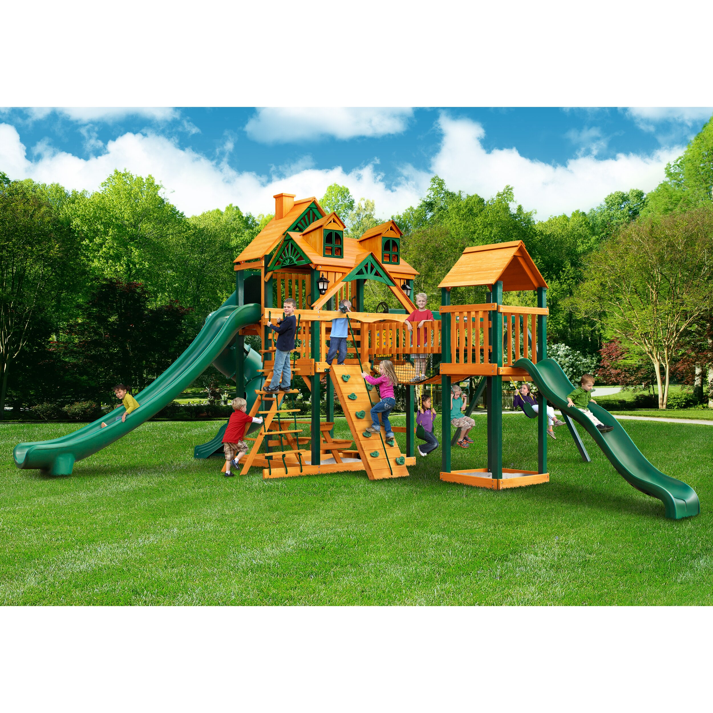 Gorilla Playsets Malibu Treasure Trove Ii Swing Set Wayfair
