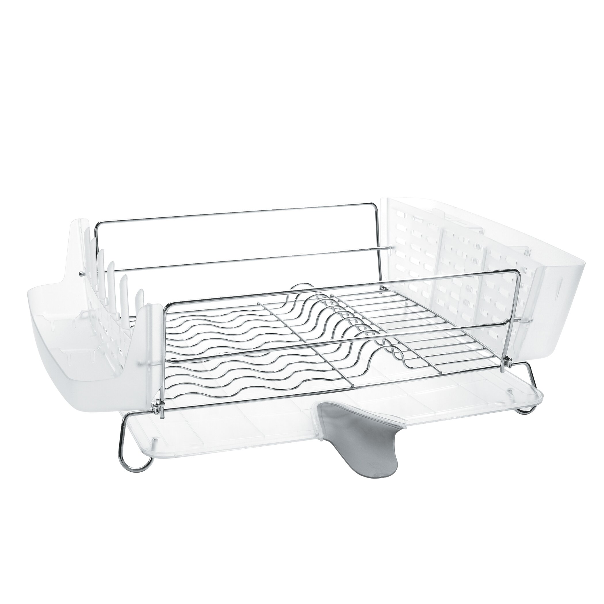 oxo good grips folding stainless steel dish rack reviews wayfair. Black Bedroom Furniture Sets. Home Design Ideas