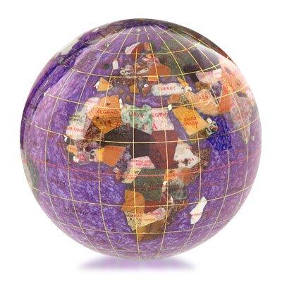 kalifano gemstone globe paperweight with opalite