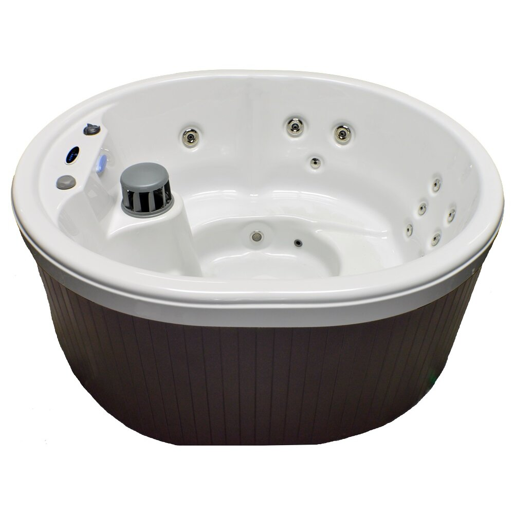 Home and garden spas 5 person 14 jet oval spa with for Oval garden tub