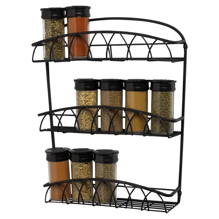 spectrum diversified twist wall mount spice rack reviews wayfair. Black Bedroom Furniture Sets. Home Design Ideas