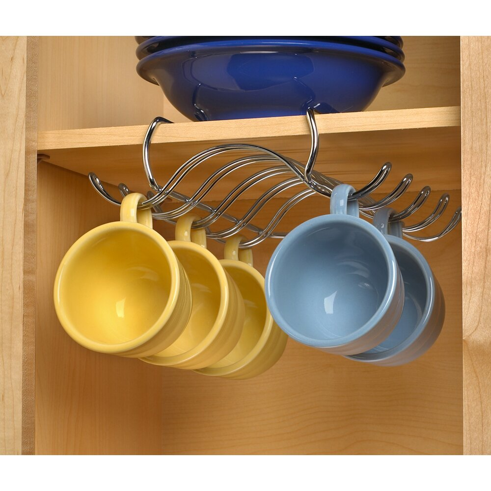 spectrum diversified under the shelf mug holder reviews wayfair. Black Bedroom Furniture Sets. Home Design Ideas