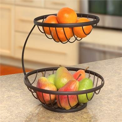 Spectrum diversified ashley 2 tier fruit bowl reviews wayfair - Tiered fruit bowl ...