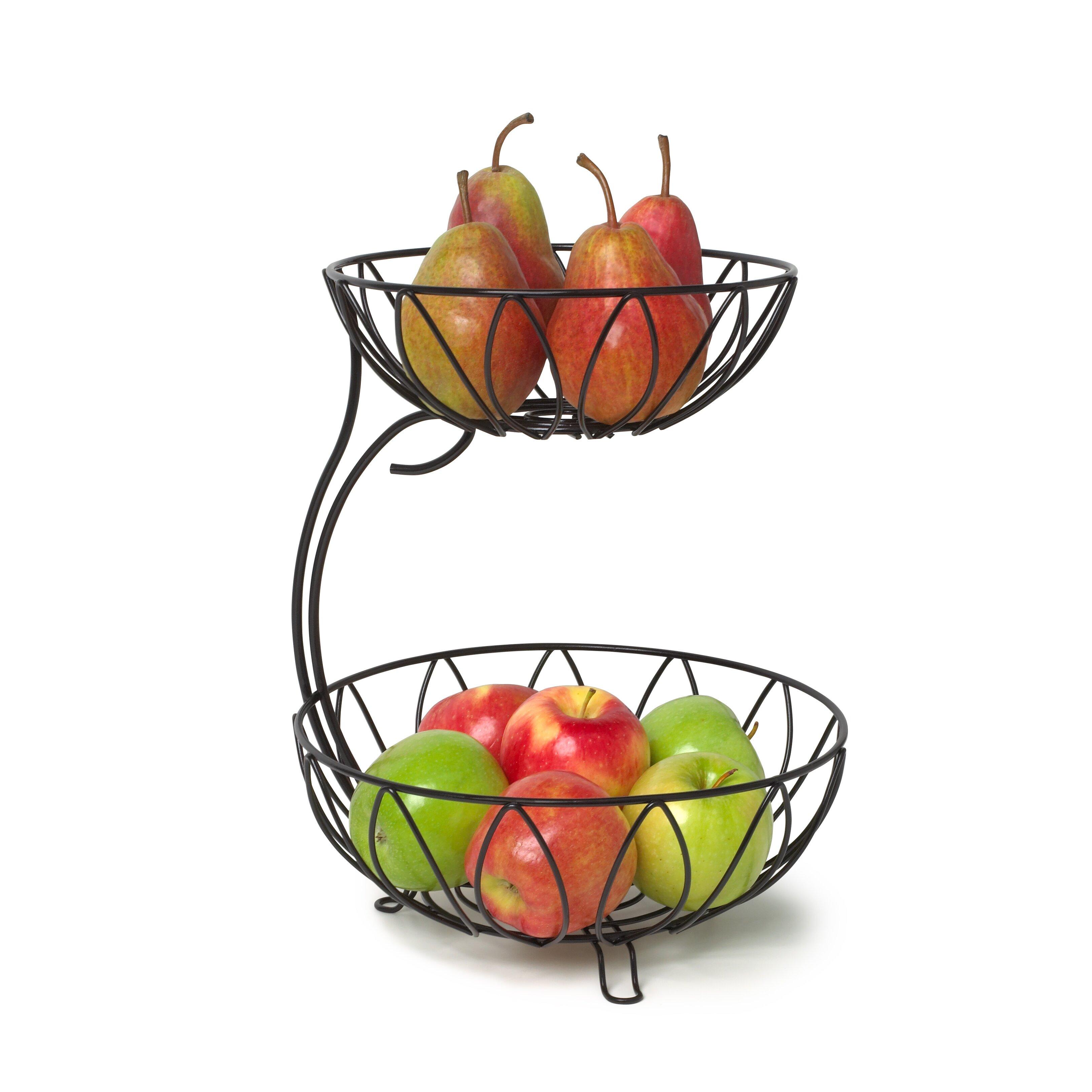 Spectrum diversified leaf arched 2 tier fruit bowl reviews wayfair - Tiered fruit bowl ...