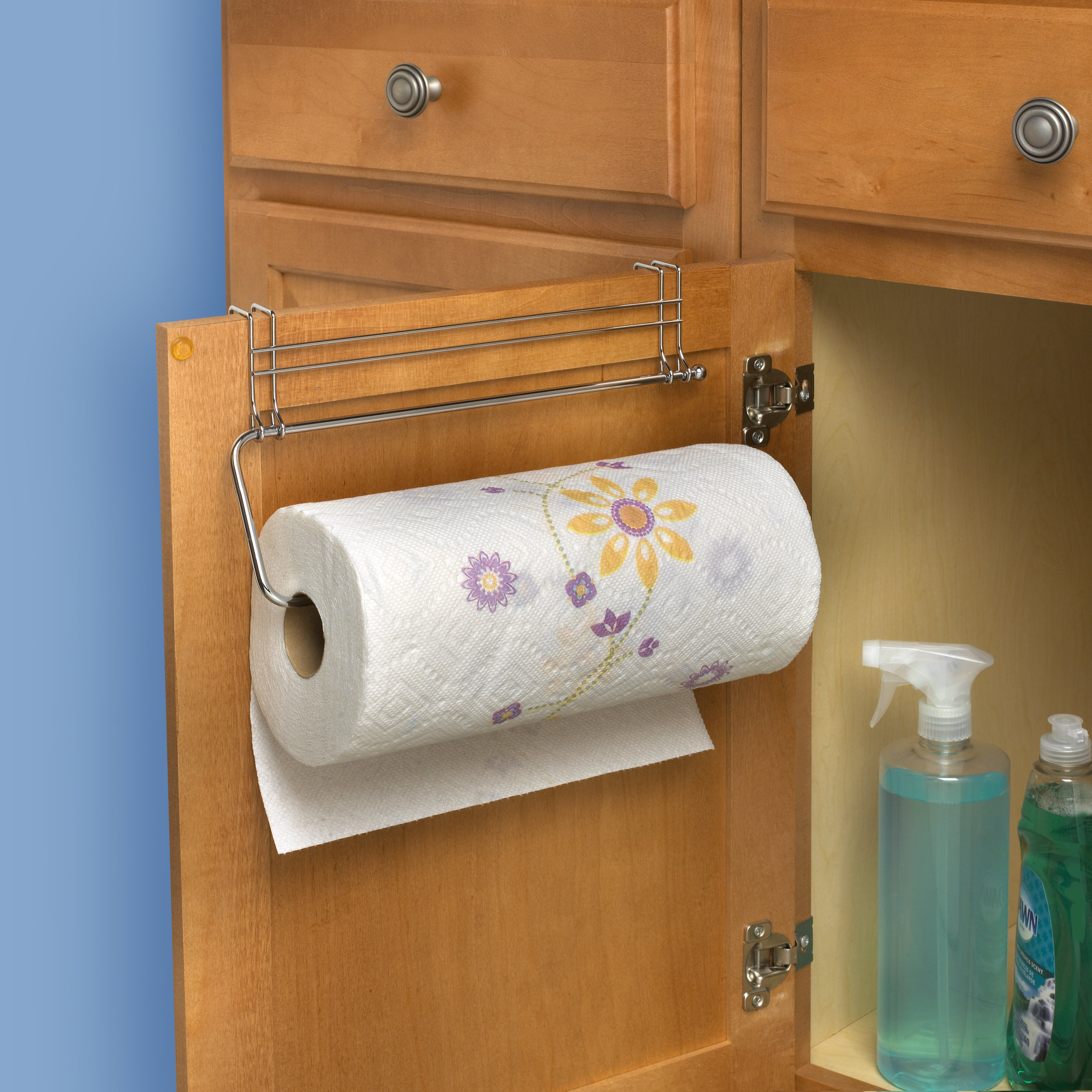 over the cabinet paper towel holder spectrum diversified contempo the cabinet paper towel 24190