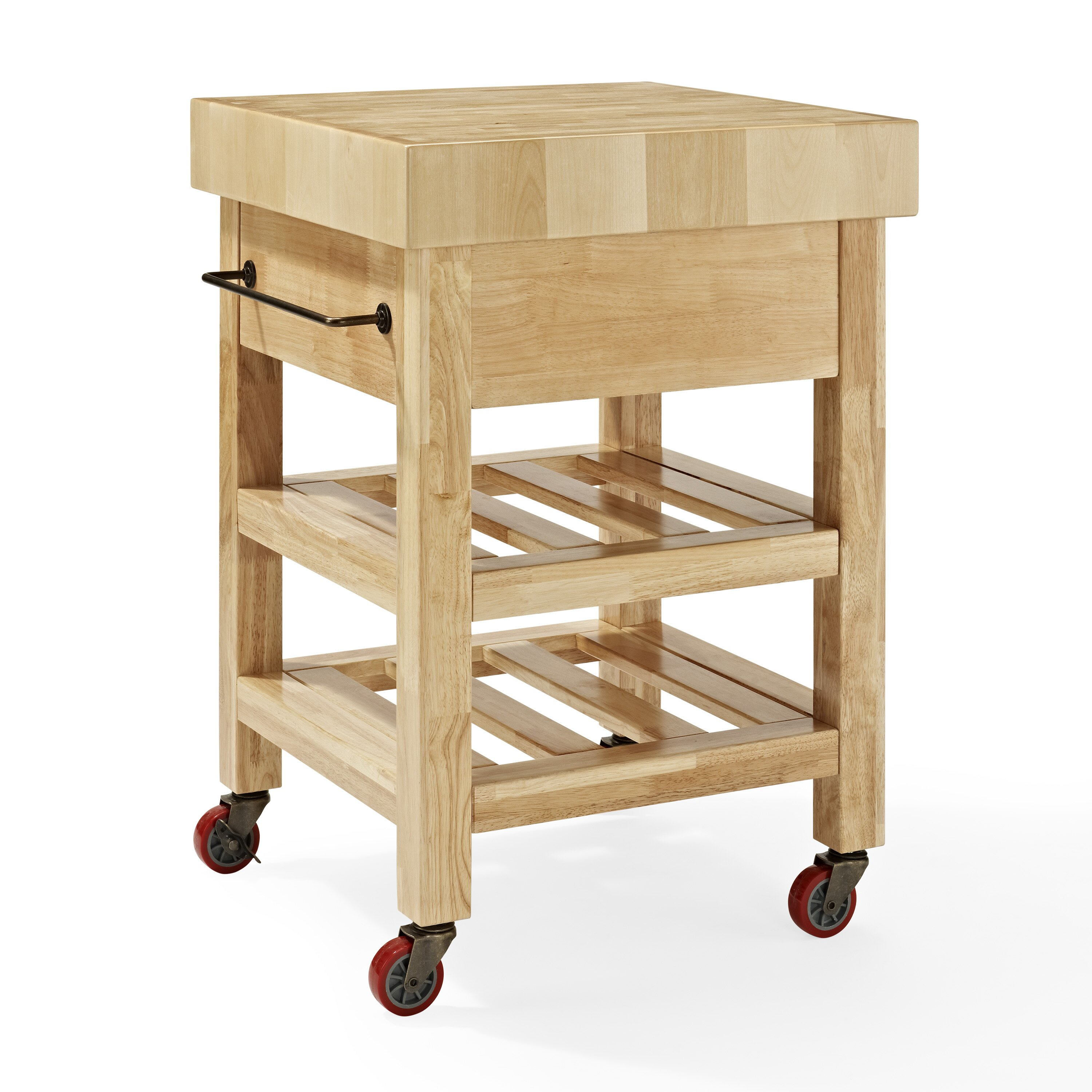 Crosley Marston Island Kitchen Cart With Wood Top