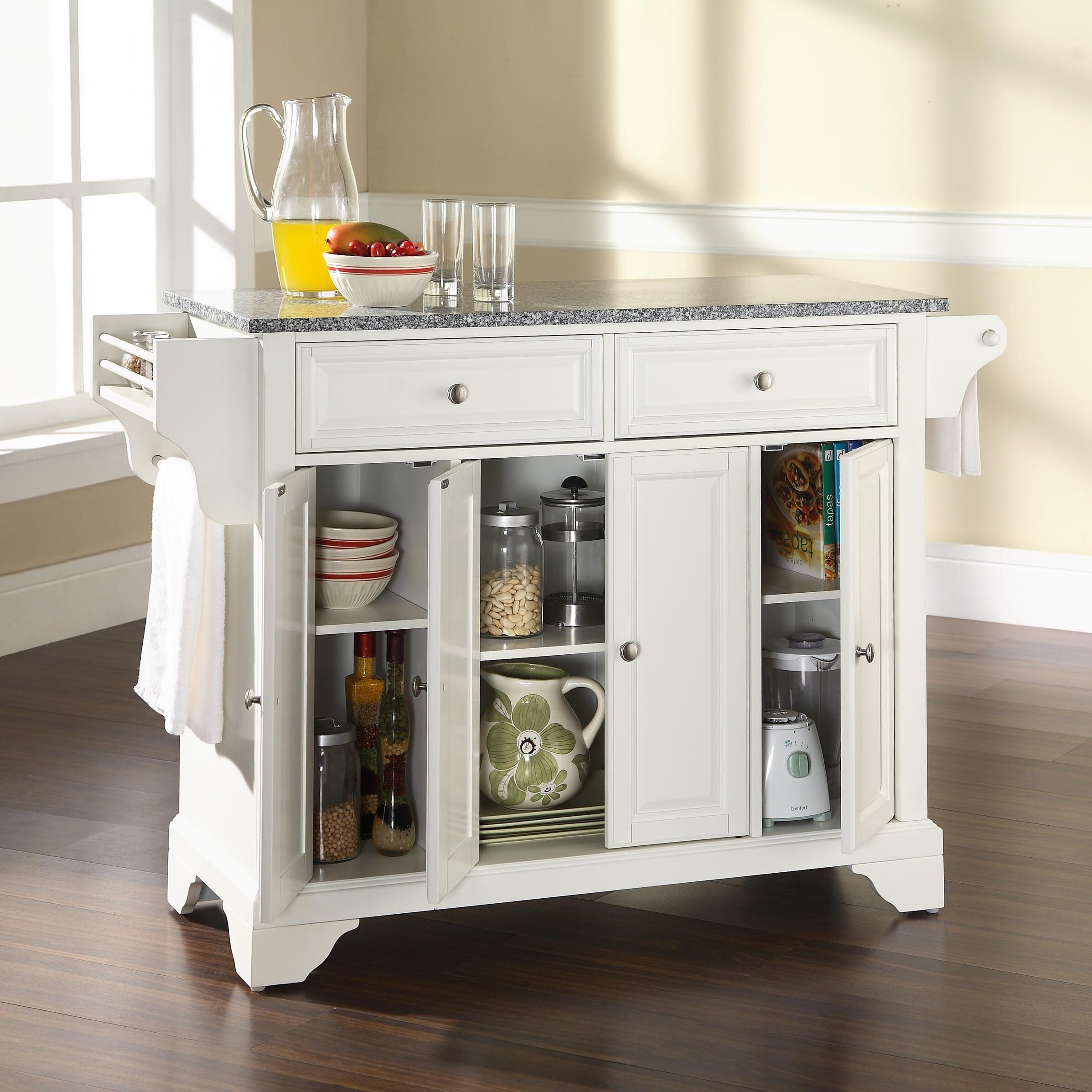 Kitchen Island With Granite Top: Crosley LaFayette Kitchen Island With Granite Top