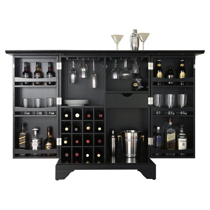 Modern Home Bar Cabinet: Crosley LaFayette Bar Cabinet & Reviews